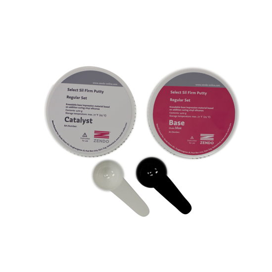 Picture of Zendo SELECT SIL FIRM PUTTY, BLUE, REGULAR SET  2 containers of 400g each + 2 mixing spoons