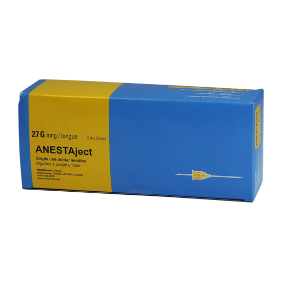 Picture of ANESTAject Plastic Hub 27G Long  (35mm), 100 Needle/Bx