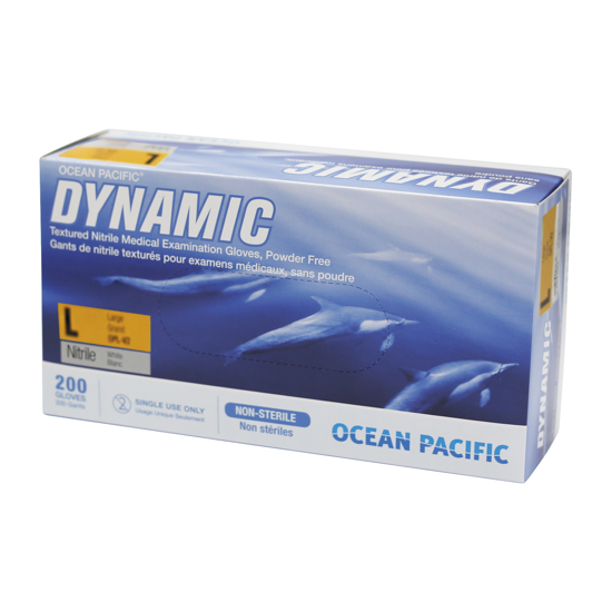 Picture of OCEAN PACIFIC® Dynamic Nitrile, PF, size L, 200 Gloves/Bx