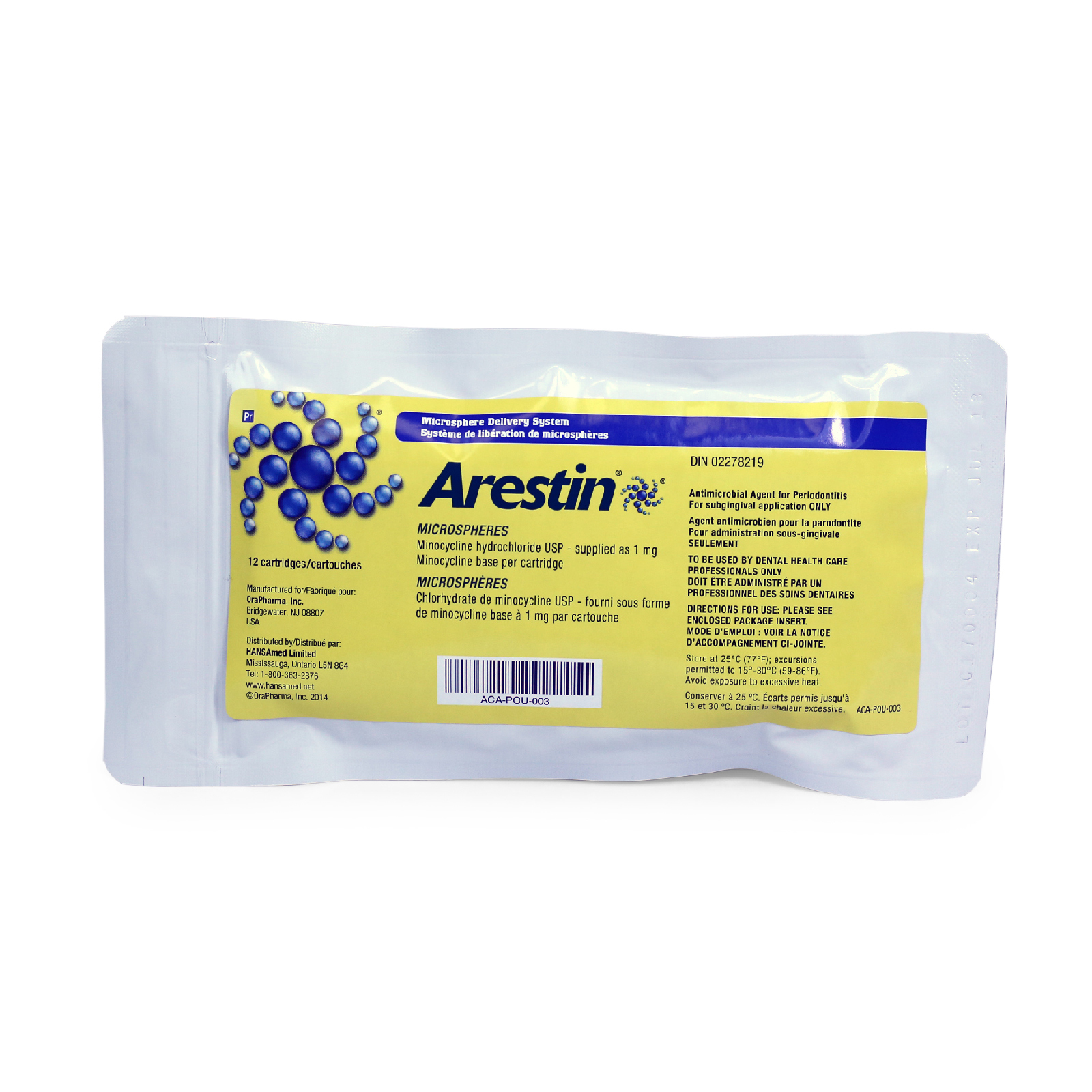Picture of Arestin® (minocycline HCl) Microspheres, 1mg, 12 Carp/Bx