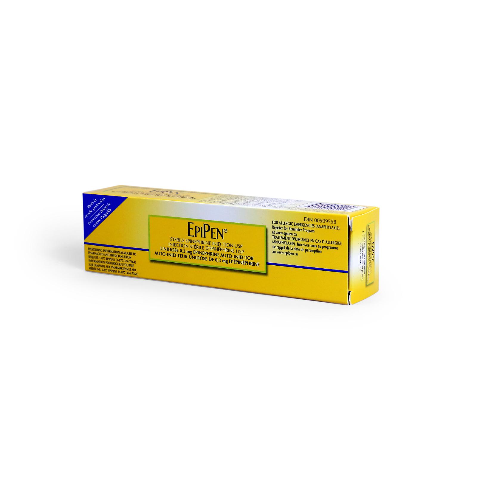 Picture of Pfizer EpiPen® Epi Inj Unidose 0.3 mg auto-inj (Adult), 1 Inj/Bx