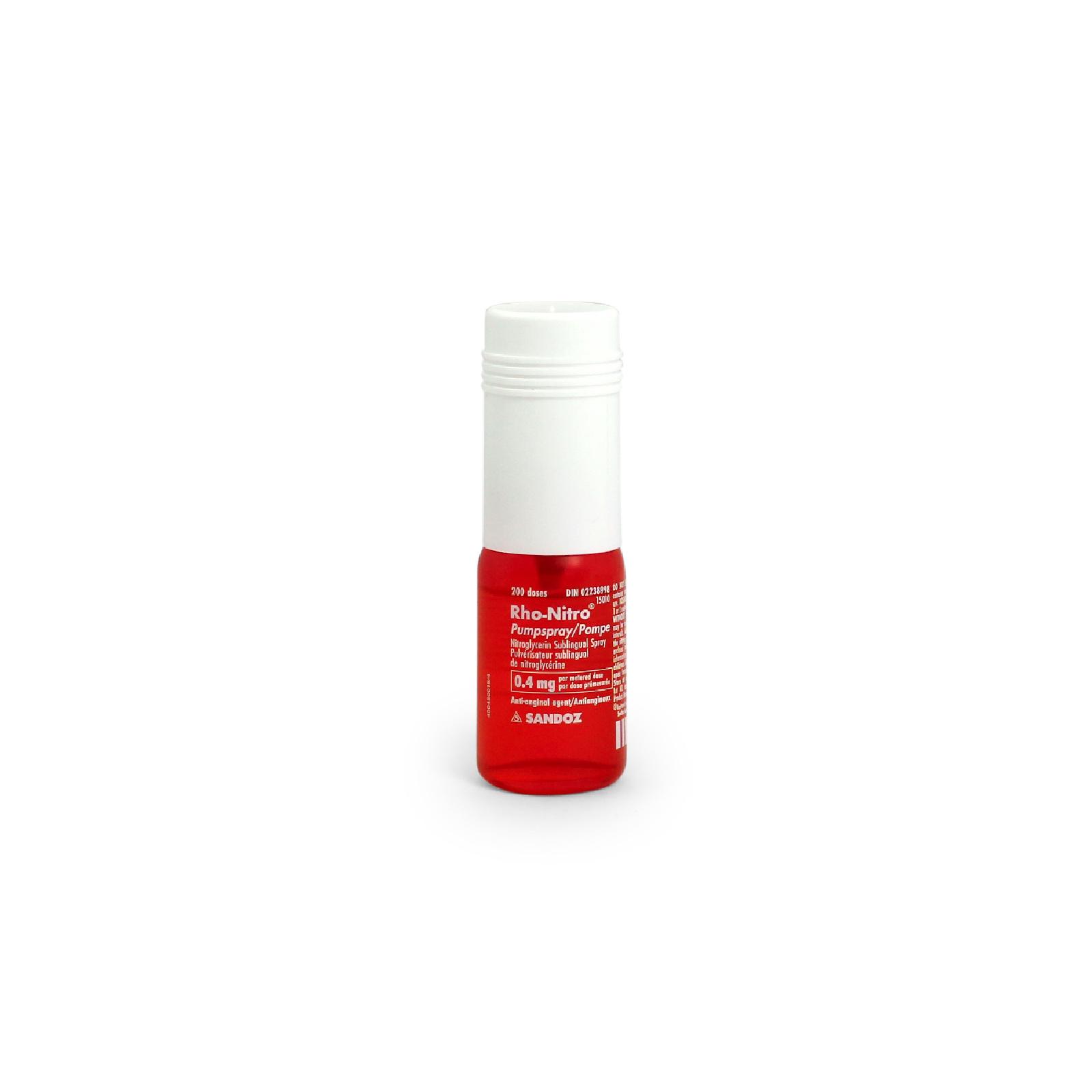 Picture of LIGHTHOUSE™ RHO-NITRO ® PUMPSPRAY (Nitroglycerin) 0.4mg, 1 U/Bx