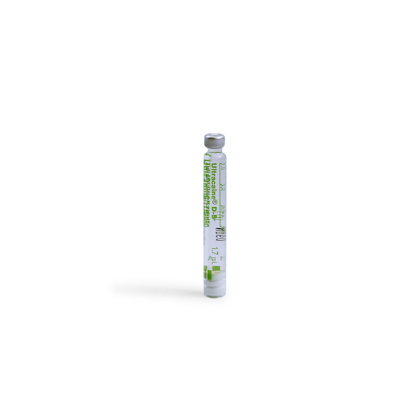 Picture of Ultracaine® D-S Regular Articaine HCI 4% w/ 1:200,000 Epi (Green), 100x1.7ml Carp/Bx