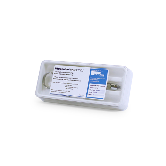 Picture of Ultracaine® Uniject K-S Aspirating Dental Cartridge Syringe, 1 Syringe/Box