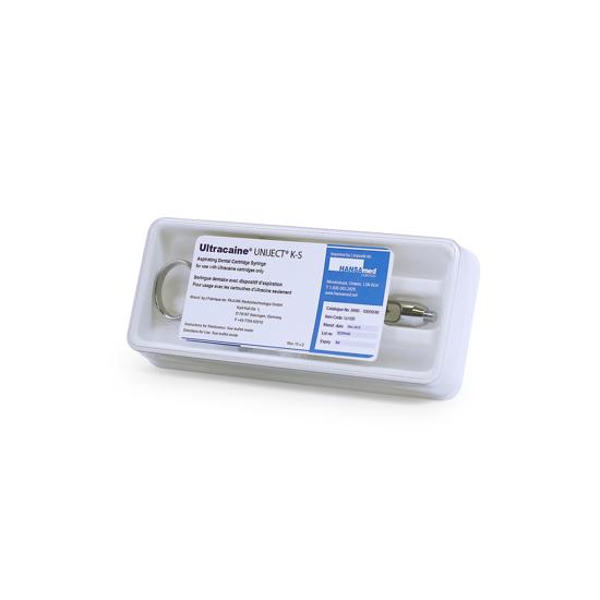 Picture of Ultracaine® Uniject K-S Aspirating Dental Cartridge Syringe, 1 Syringe/Box