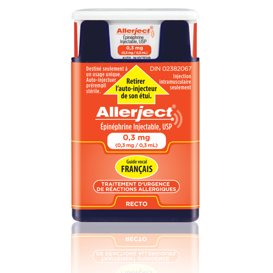 Picture of Allerject French 0.30mg injection, 1 Inj/Bx